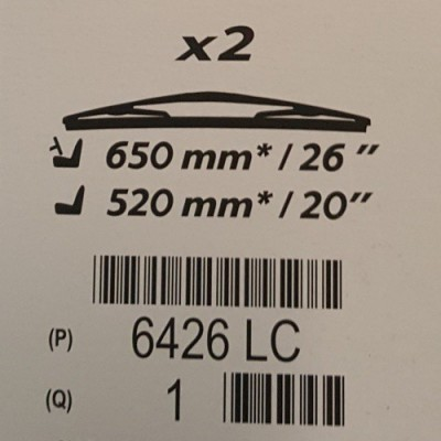 Predné stierače Peugeot - 607
