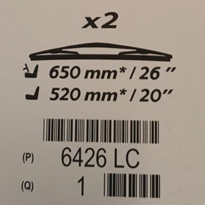 Tergicristalli anteriori Peugeot 607