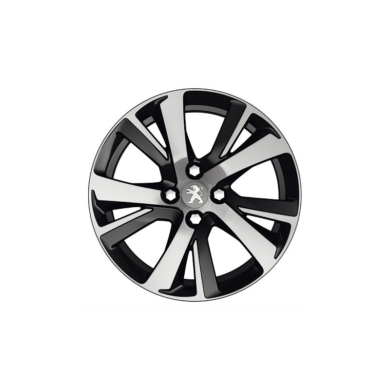 alloy wheel peugeot eridan noir 17 2008 eshop. Black Bedroom Furniture Sets. Home Design Ideas