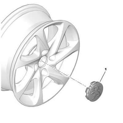 Středová krytka Peugeot šedá Hephaïs