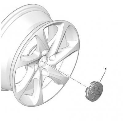 Stredová krytka Peugeot antracitová
