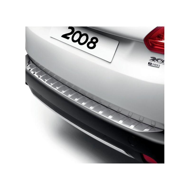 Protector de umbral de maletero inoxidable Peugeot 2008