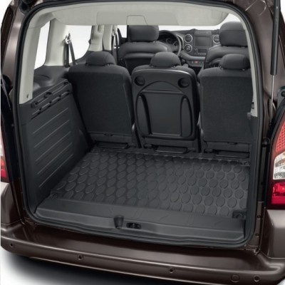 Alfombrilla de maletero de goma Peugeot Partner Tepee (B9), Citroën Berlingo Multispace (B9)
