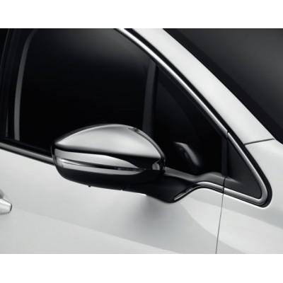 Serie di 2 gusci di protezione per retrovisori esterni CROMATO Peugeot - 208, 2008