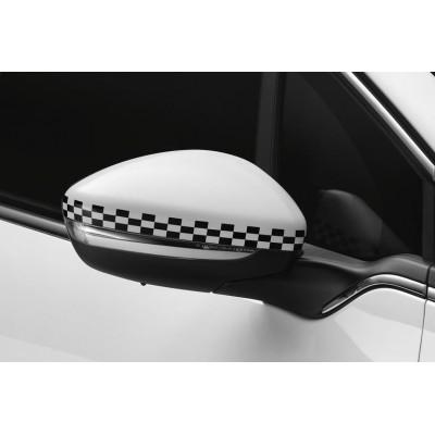 Sada krytov vonkajších spätných zrkadiel LINIE S ŠACHOVNICE Peugeot - 208