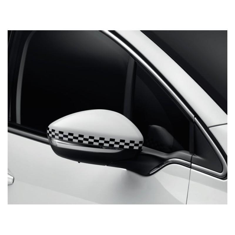 Sada krytek vnějších zpětných zrcátek LINIE S ŠACHOVNICE Peugeot - 208
