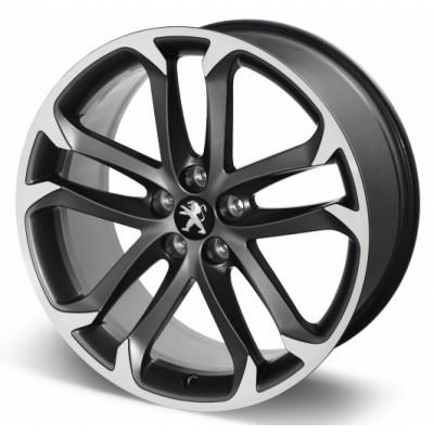 """Alloy wheel Peugeot SOLSTICE 19"""" matt black onyx - RCZ"""