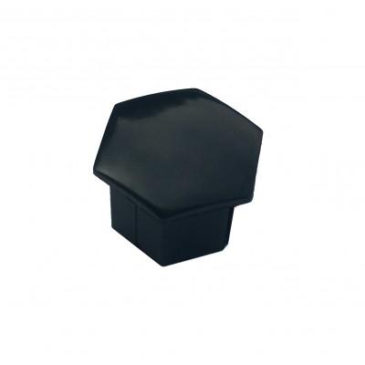 Tapa de tornillo para llanta de aleación Peugeot - angular negro
