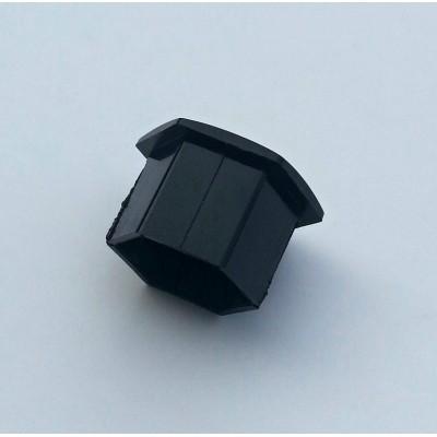 Krytka šroubu kola Peugeot - černá hranatá