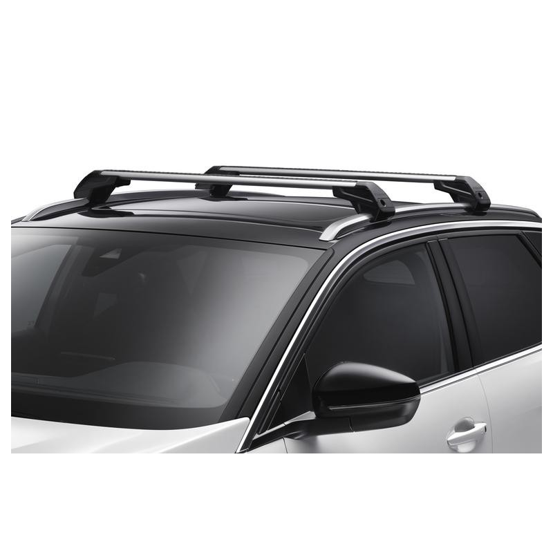 set of 2 transverse roof bars peugeot - new 3008 (p84) with trims