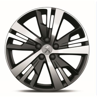 "Set of 4 alloy wheels Peugeot DETROIT 18"" - New 3008 (P84), New 5008 (P87)"