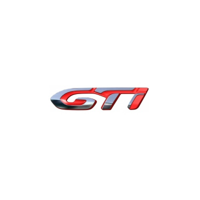 """Štítek """"GTi"""" levý bok vozu Peugeot 308 (T9)"""