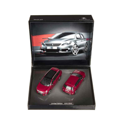 Conjunto de 2 modelos Peugeot 308 GT (T9) 1:43