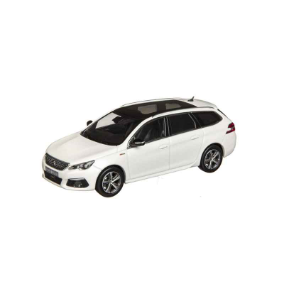 Modelo Peugeot 308 SW GT LINE blanco Nacré (T9) 1:43