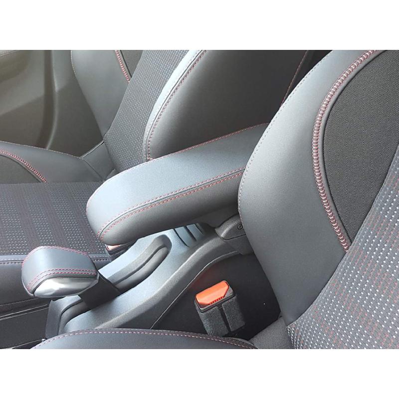 Středová loketní opěrka Peugeot 2008, červené štepování