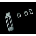 Kit de pedales y reposapies de aluminio para vehículo con caja de cambios manual Peugeot - 308 (T9), 308 SW (T9)