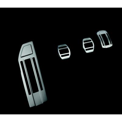 Sada hliníkových šlapek pedálů a opěry chodidla pro MANUÁLNÍ převodovku Peugeot - 308 (T9), 308 SW (T9)