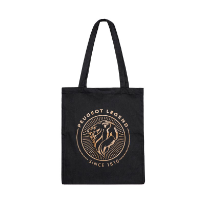 Cotton bag Peugeot LEGEND - black