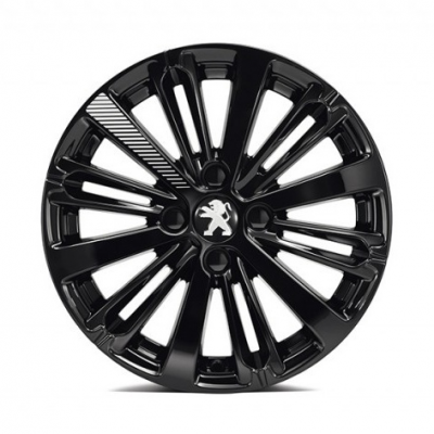 "Alloy wheel Peugeot TITANE Black Onyx (EXY) 16"" - 208"