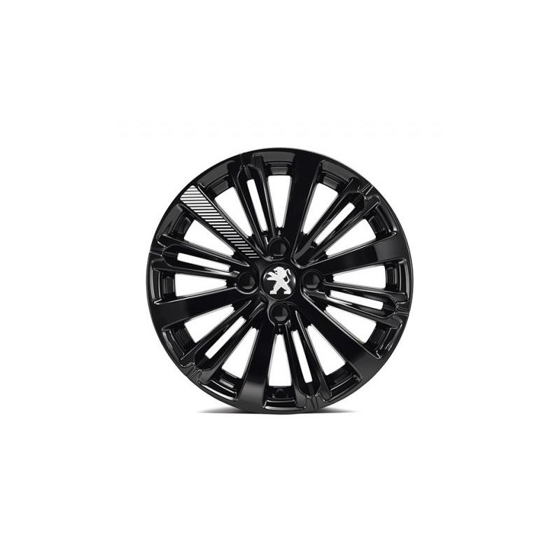 "Llanta de aleación Peugeot TITANE Onyx Negra 16"" - 208"