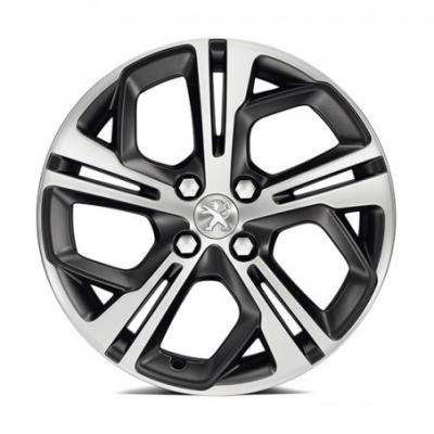 "Alloy wheel Peugeot CARBONE Storm Grey (FXS) 17"" - 208"