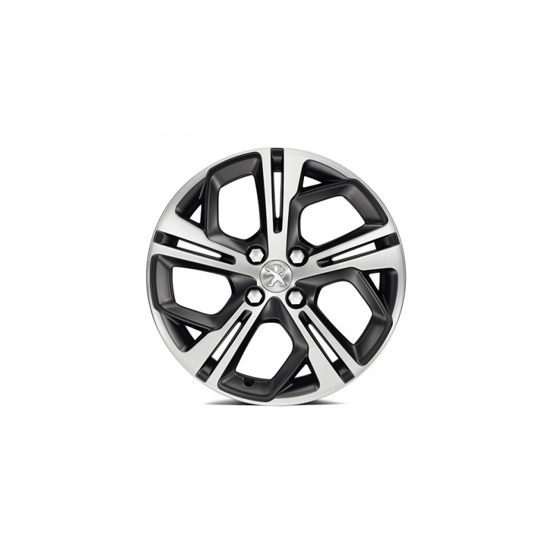 "Leichtmetallfelge Peugeot CARBONE Storm Grey (FXS) 17"" - 208"