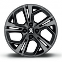 "Alloy wheel Peugeot CARBONE GTi Matt Grey 17 ""- 208"
