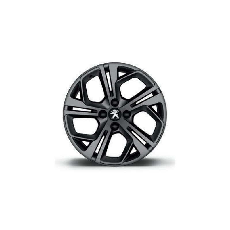 """Cerchio in lega Peugeot CARBONE GTi Grigio Opaco 17 """"- 208"""