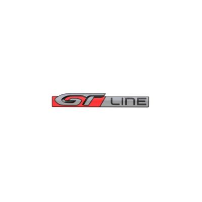 """Štítek """"GT LINE"""" zadní část vozu Peugeot 208"""