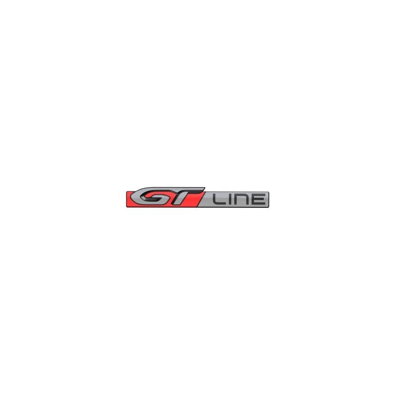 "Badge ""GT LINE"" rear Peugeot 208"