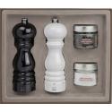 Peugeot Dárkový set mlýnků na pepř a sůl Paris U'Select, lakovaný černý a bílý 18 cm