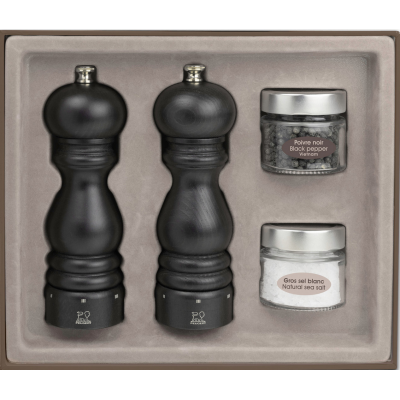Peugeot PARIS U'Select Gift Set Pepper and Salt Mill, Chocolate 18 cm