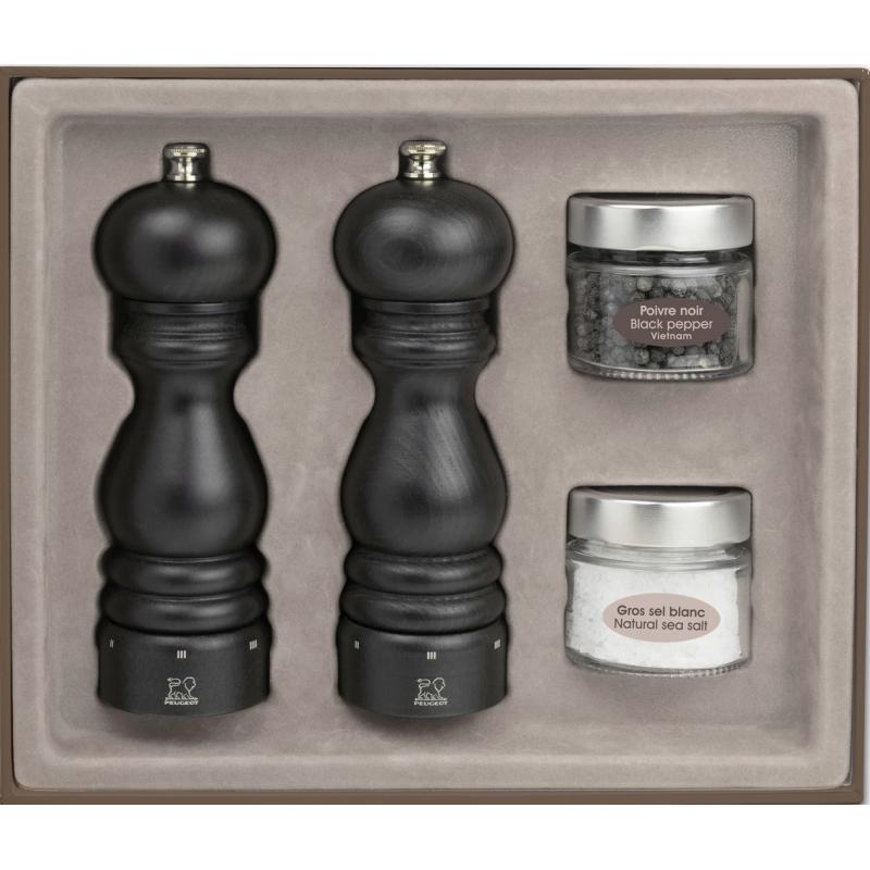 peugeot paris u'select gift set pepper and salt mill, chocolate 18