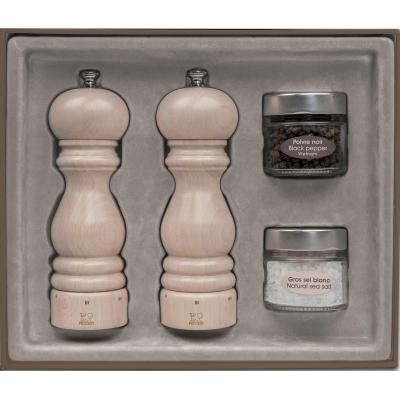 Peugeot Darčekový set mlynčekov na korenie a soľ PARIS U Select, biela lazura 18 cm