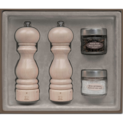 Peugeot PARIS U'Select Gift Set Pepper and Salt Mill, White lasured 18 cm
