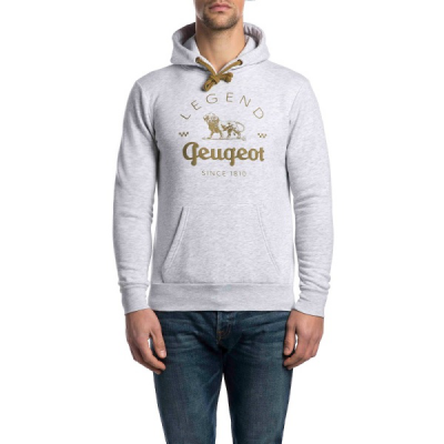 Men's hoodie Peugeot LEGEND – grey