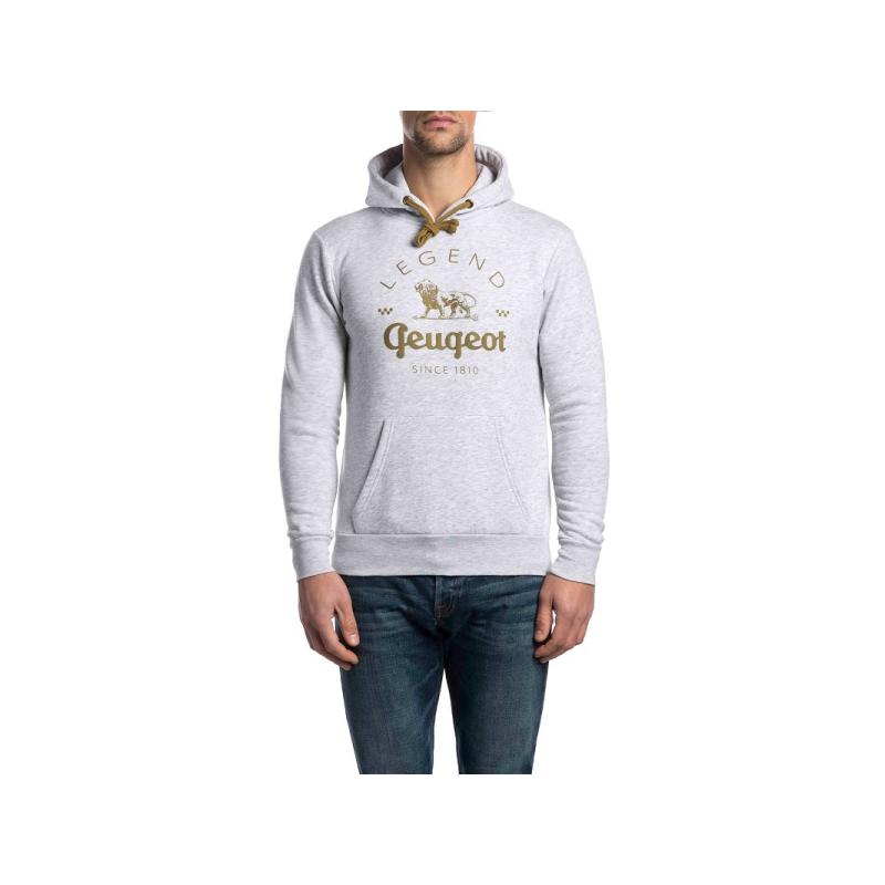 Men's hoodie Peugeot LEGEND – grey
