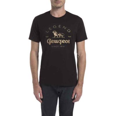 Camiseta negra de hombre Peugeot LEGEND