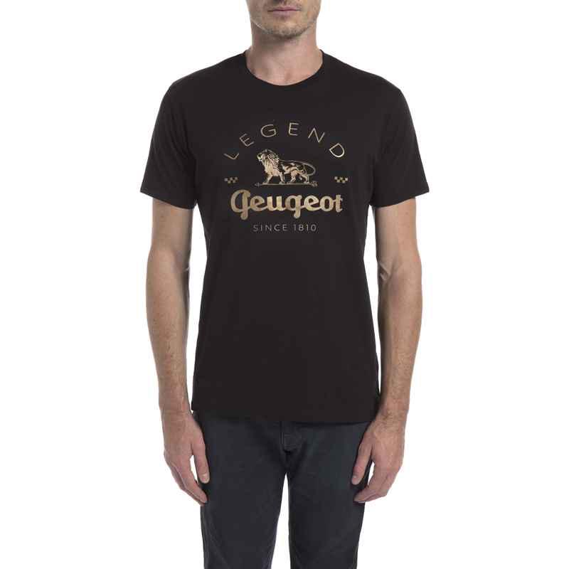 792bd93f9e07 Pánské černé tričko Peugeot LEGEND