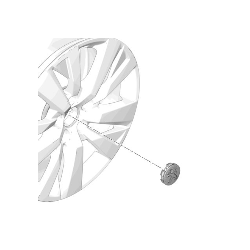 Tapacubo para rueda de aluminio Peugeot GRIS STORM