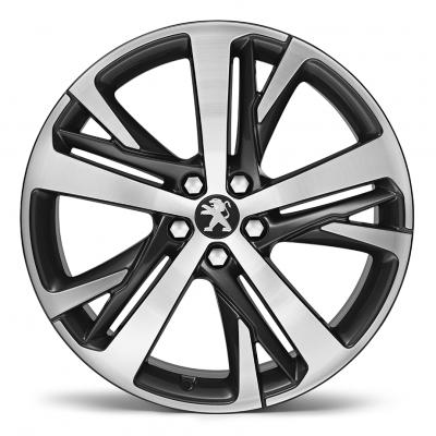 "Serie di 4 cerchi in lega Peugeot TECHNICAL GREY 19"" - RCZ"