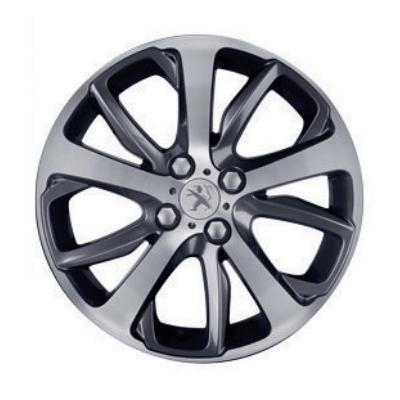 "Alloy wheel Peugeot OXYGENE Grey Dark 17"" - 208"