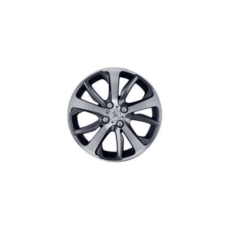 """Cerchio in lega Peugeot OXYGENE Grigio Scuro 17"""" - 208"""
