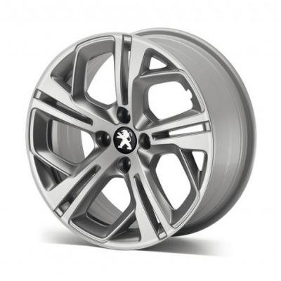 """Cerchio in lega Peugeot CARBONE GTi Storm Grey 17"""" - 208"""