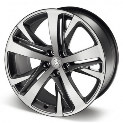 "Cerchio in lega Peugeot TECHNICAL GREY (LE MANS) 19"" - RCZ"