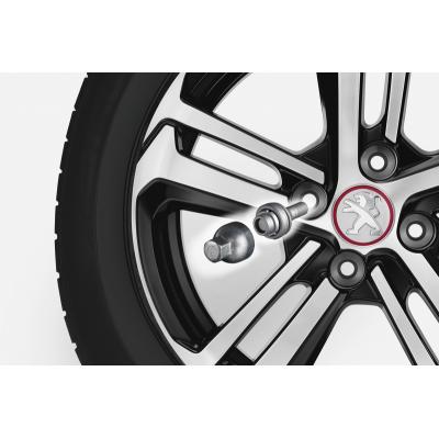 Bezpečnostné skrutky Peugeot pre alu kola