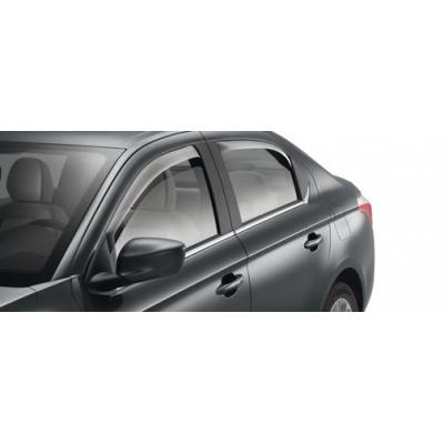 Serie di 2 deflettori dell'aria delle porte posteriori Citroën C-Elysée