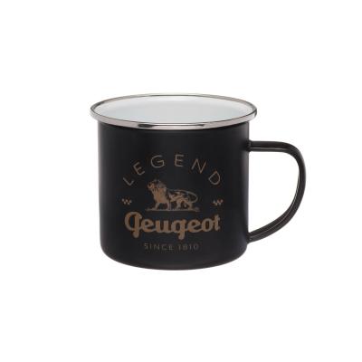 Black metal mug Peugeot LEGEND