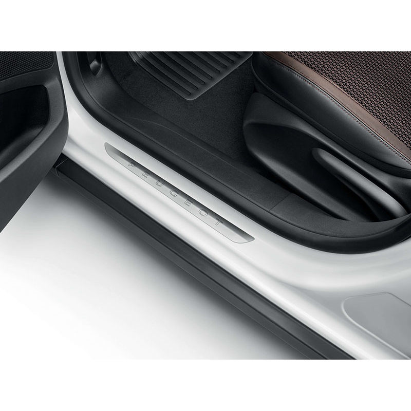 Juego de 2 embellecedores de umbral de puerta delantero Peugeot - 208 5 puertas, 2008, 308 (T9)