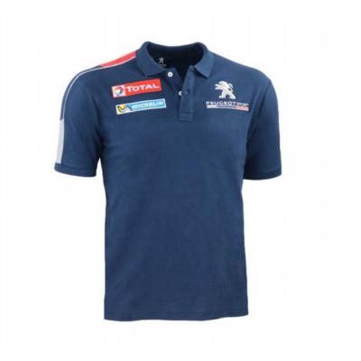 Herren Polo T-shirt Dunkelblau Peugeot Sport